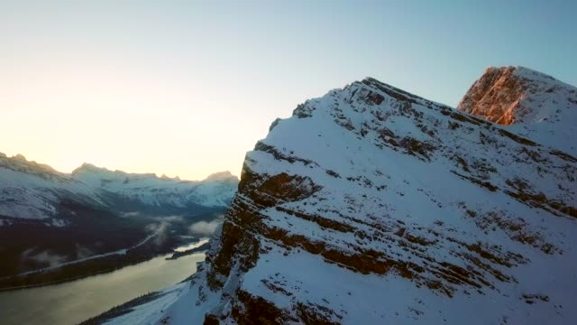 mountain peak at sunrise - crag stock videos and b-roll footage