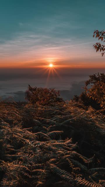 vidéos et rushes de pic de montagne laps de temps au lever du soleil - ciel étoilé