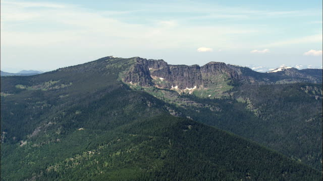 Bergstoppar - Flygfoto - Montana, Sanders County, Sweden