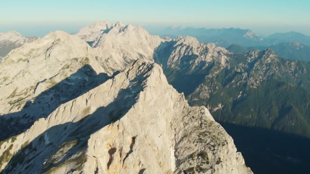 mountain peaks in morning glory - slovenia stock videos & royalty-free footage