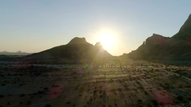 mountain range in namibia. aerial view - non us film location stock videos & royalty-free footage