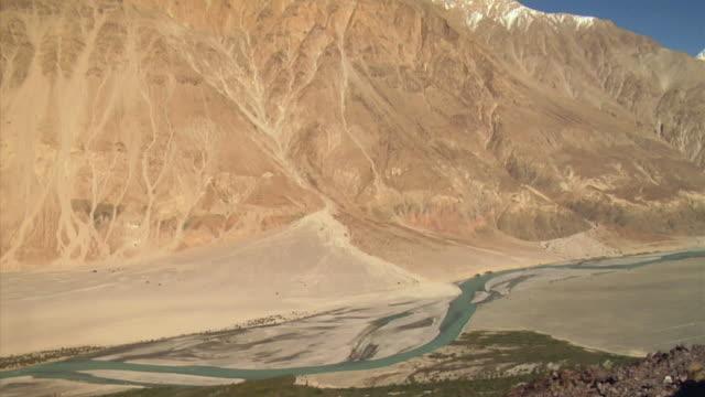 WS, TU, Mountain range near Shayok river, Ladakh, Jammu and Kashmir, India