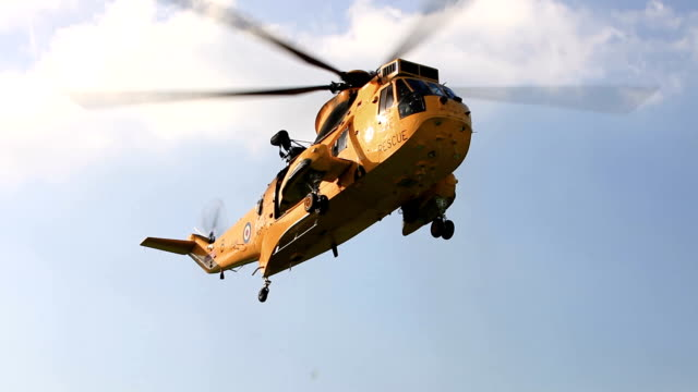 mountain rescue helicopter - british military stock-videos und b-roll-filmmaterial