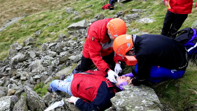 mountain rescue incident - rescue stock videos & royalty-free footage