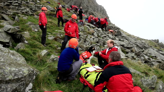 mountain rescue team - rescue worker stock videos and b-roll footage