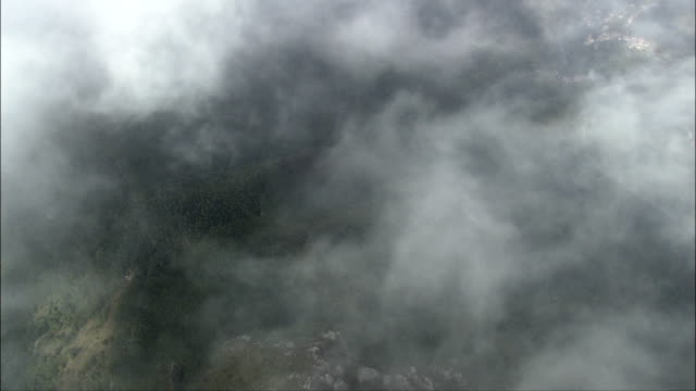 mountain ridges - aerial view - liguria, provincia di imperia, mendatica, italy - hole stock videos & royalty-free footage