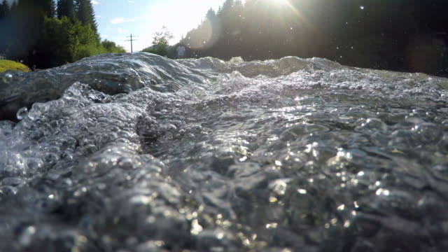 Mountain river Stillach near Oberstdorf, Bavaria, Germany