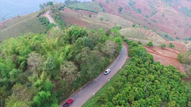 Mountain road in Chiang rai