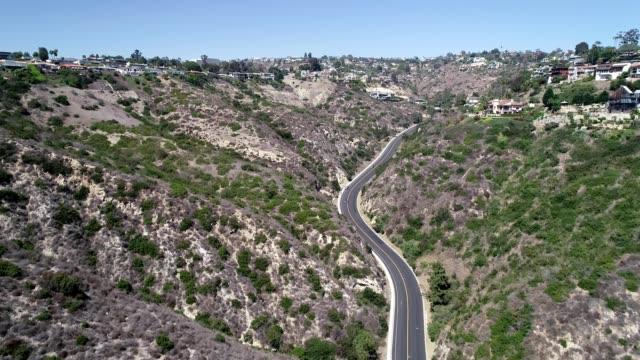 mountain road in laguna beach - laguna beach california stock videos & royalty-free footage