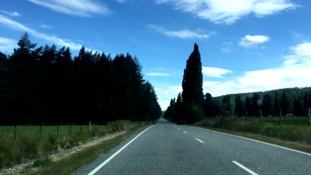 Mountain Road in South Island New Zealand
