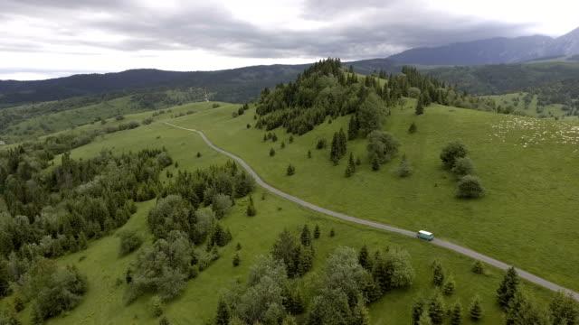 Berg-Roadtrip. Luftbild