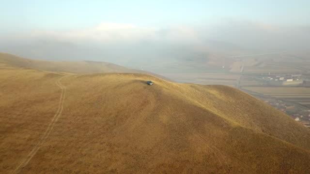 Mountain road trip. Aerial view