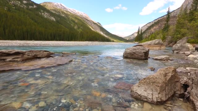 Mountain scene with Bow River