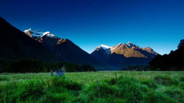 time lapse: mountain scenery - day to night stock videos & royalty-free footage
