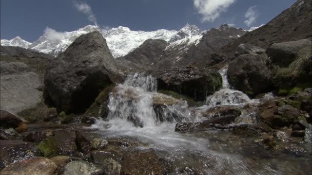Mountain stream, Kedarnath, India Available in HD.