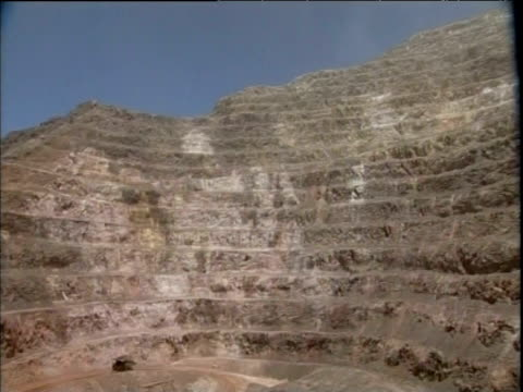 mountain stripped bare of its gold through mining argentina dec 06 - open cast mine stock videos & royalty-free footage