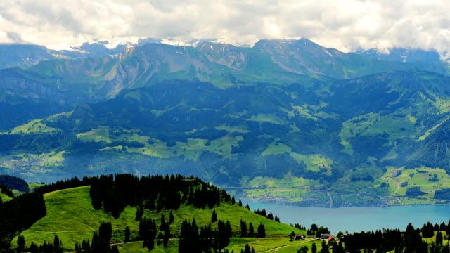 RIGI mountain top von Luzern in der Schweiz