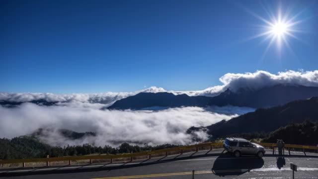 mountain top - 山間道路点の映像素材/bロール
