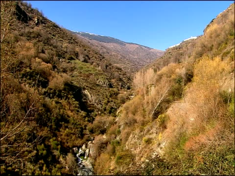 mountain valley in spring, parque natural sierra nevada, andalucia, spain - parque natural stock videos and b-roll footage