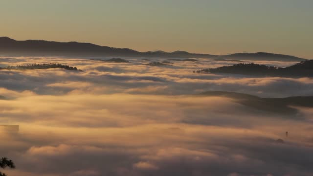 mountain valley with nice cloud at dawn - vietnam stock videos & royalty-free footage