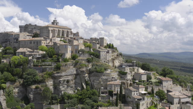 mountain village gordes - luberon video stock e b–roll