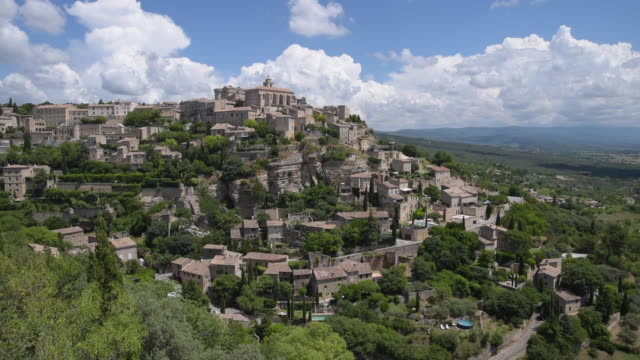 mountain village gordes - luberon stock videos & royalty-free footage