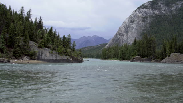 mountain waterscape - valley of the ten peaks stock videos and b-roll footage