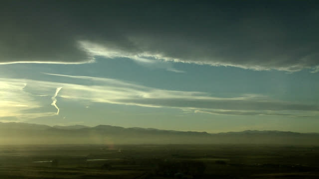 mountain wave clouds and contrails - colorado stock videos and b-roll footage