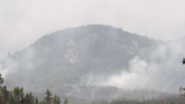 mountain wildfire smoke - アラスカ点の映像素材/bロール