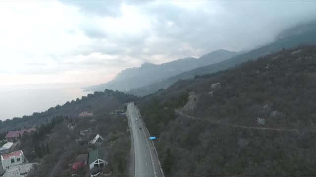 mountain with road - sevastopol crimea stock videos and b-roll footage