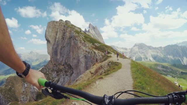 Mountainbike in high mountain
