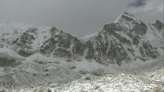 mountaineering gurkhas to attempt mount everest ascent two years after earthquake tragedy r02120907 nepal mount everest general view of mount everest... - nepal stock-videos und b-roll-filmmaterial