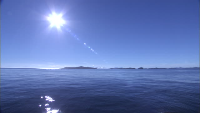 mountainous coast and pacific ocean, melinka, chile - tranquility video stock e b–roll
