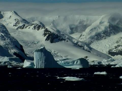 wa mountainous coastline of paradise bay area, antarctic peninsula - antarctic peninsula stock videos & royalty-free footage