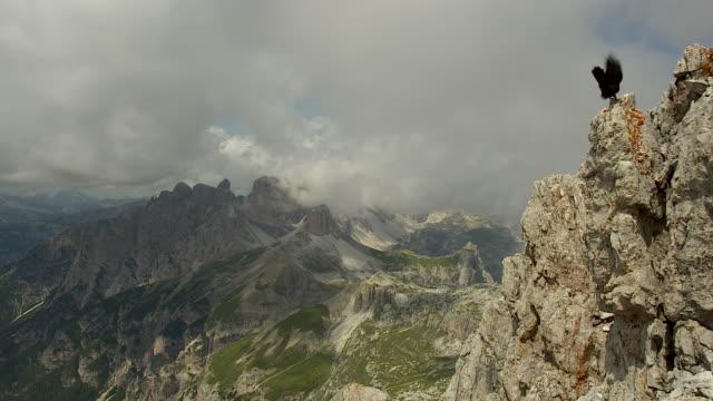 Mountainous ridge in the dolomites