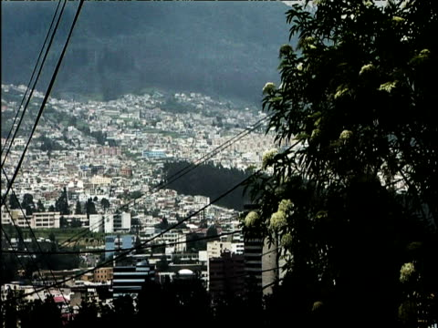 mountainous streets of quito ecuador - ecuador stock videos and b-roll footage