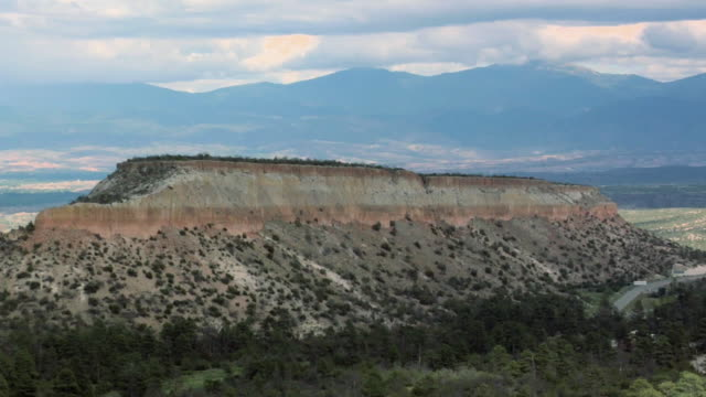 T/L WS Mountains along Senator Clinton P Anderson Scenic Route near Los Alamos, New Mexico, USA