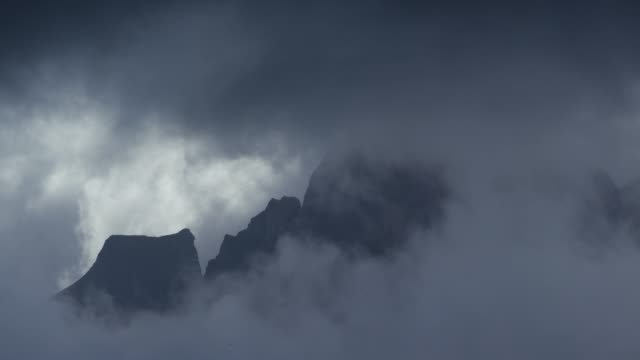 Mountains and clouds by Saltstraumen in Bodø, Norway