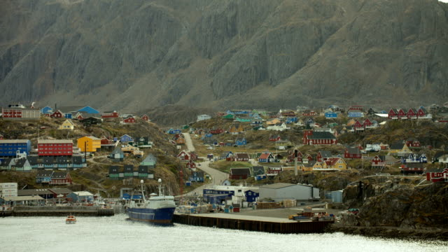 mountains and fishing port in greenland - northwest passage stock videos and b-roll footage