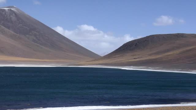 WS ZO Mountains and lake in desert landscape, San Pedro de Atacama, El Loa, Chile