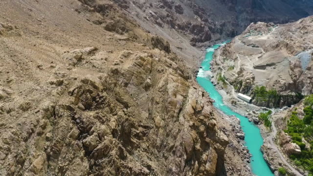 mountains and river running through 2 - crag stock videos and b-roll footage