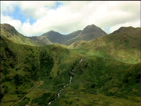mountains and valleys of snowdonia national park - snowdonia stock videos & royalty-free footage