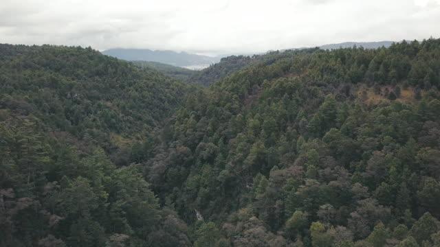 Mountains by San Cristobal de las Casas in the horizon