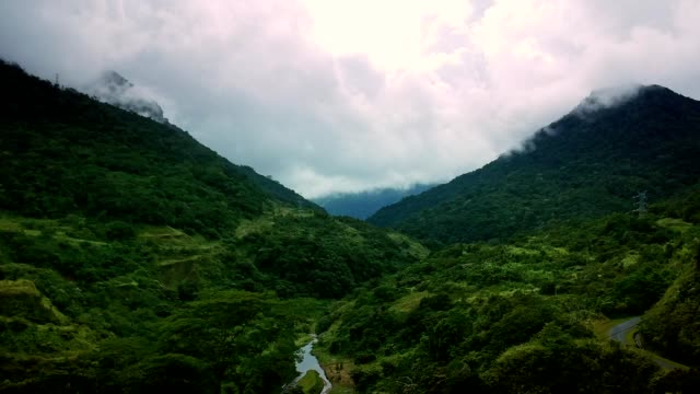 mountains covered with tropical rainforest. turquoise river - panama stock videos & royalty-free footage