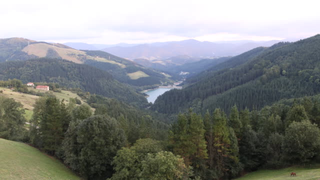 mountains in navarra - comunidad foral de navarra stock videos and b-roll footage