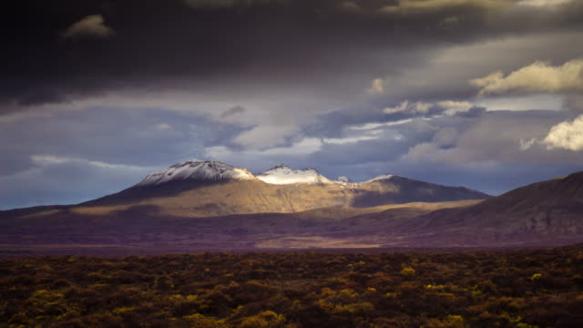 mountains in thingvellir national park, iceland - time lapse - mountain range stock videos & royalty-free footage