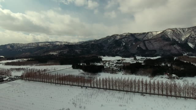 mountains in winter - satoyama scenery stock videos and b-roll footage
