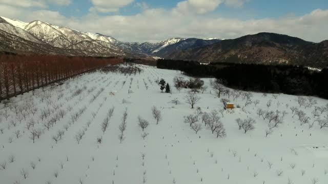 mountains in winter - satoyama scenery stock videos & royalty-free footage