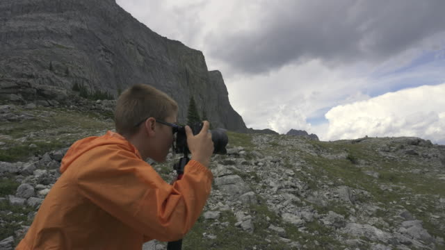 mountains kid photographer3 - 10 11 years stock videos and b-roll footage