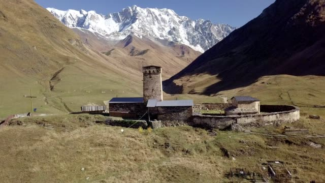 mountains of the great caucasus and the village of ushguli in svaneti, georgia - eastern european culture stock videos & royalty-free footage
